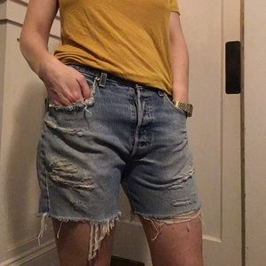 Vintage Levi's 501 distressed cutoff shorts